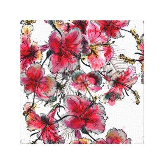 Impressão Em Tela Flores tropicais do hibiscus