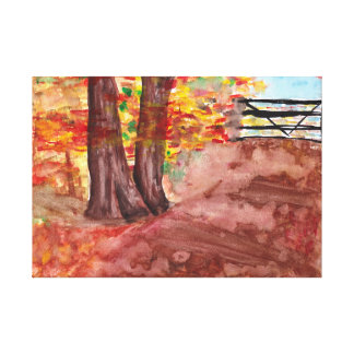 Impressão Em Tela Floresta na queda