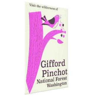 Impressão Em Tela Floresta nacional Washington de Gifford Pinchot