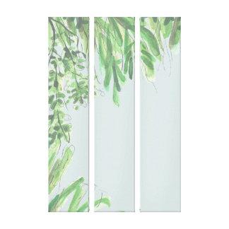 Impressão Em Tela Floresta Triptich tropical