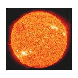 Impressão Em Tela Fogos alaranjados do Sun