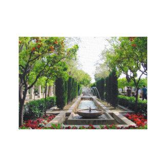 Impressão Em Tela Fonte espanhola do jardim