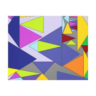 Impressão Em Tela Formas das cores