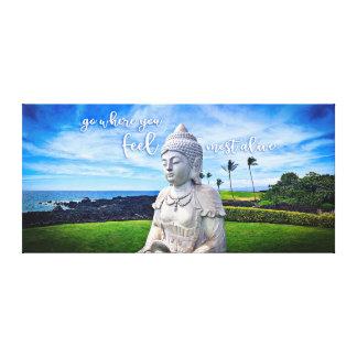 """Impressão Em Tela Foto branca da """"as citações as mais vivas de Havaí"""