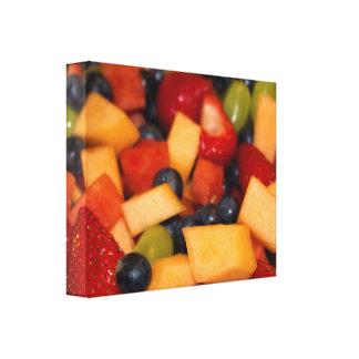 Impressão Em Tela Foto colorida da salada de fruta