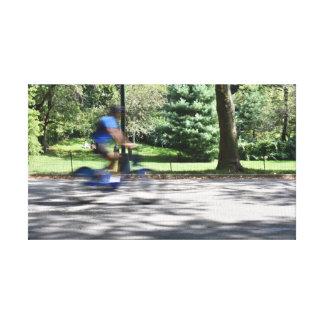 Impressão Em Tela Foto da bicicleta do ciclista do Central Park da