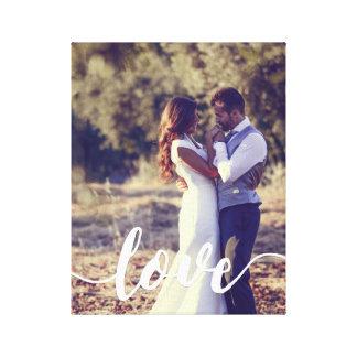 Impressão Em Tela Foto da folha de prova do roteiro do amor