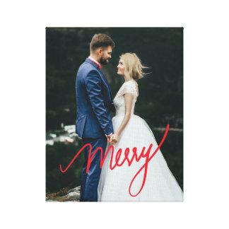 Impressão Em Tela Foto do casamento do Natal do Newlywed da feliz |