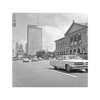 Impressão Em Tela Foto dos anos 60 do museu de arte da avenida de