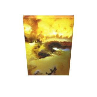 Impressão Em Tela Foto Mossy da ágata da cor vibrante projetada