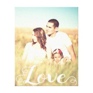 Impressão Em Tela Foto na moda da tipografia do amor