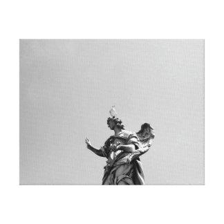 Impressão Em Tela Foto simples, moderna da gaivota sobre a estátua