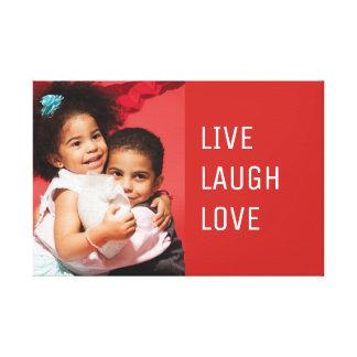 Impressão Em Tela Foto viva do amor do riso do costume