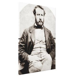 Impressão Em Tela Fotografia do retrato de Jules Verne do vintage