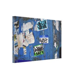 Impressão Em Tela Fotografia urbana da arte da rua dos grafites da