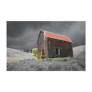 Impressão Em Tela Fotografia velha rústica do celeiro