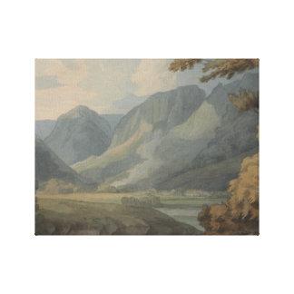 Impressão Em Tela Francis Towne - vista em Borrowdale do Crag de