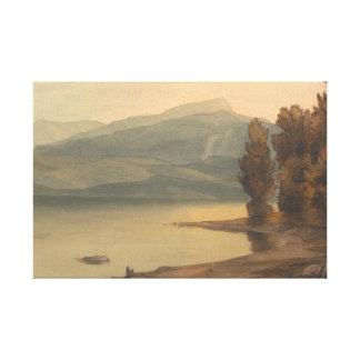 Impressão Em Tela Francis Towne - Windermere no por do sol