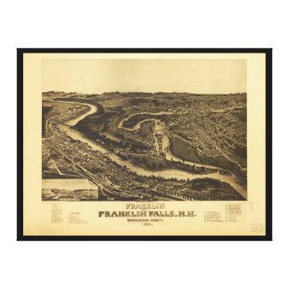 Impressão Em Tela Franklin e quedas de Franklin, New Hampshire