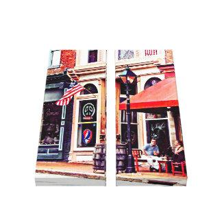 Impressão Em Tela Fredericksburg VA - Café exterior