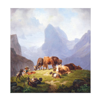 Impressão Em Tela Friedrich Voltz no Alm