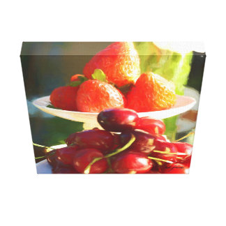 Impressão Em Tela Frutas no foco