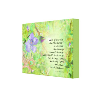Impressão Em Tela Fulgor do Vinca da oração da serenidade