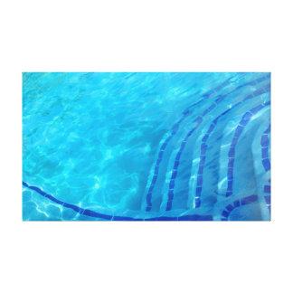 Impressão Em Tela Fundo azul abstrato