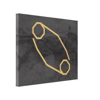 Impressão Em Tela Fundo customizável do sinal | do zodíaco do cancer