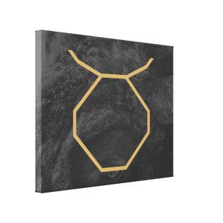 Impressão Em Tela Fundo customizável do sinal | do zodíaco do Taurus
