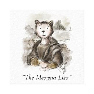 Impressão Em Tela Gato de Meowna Lisa do renascimento pelo gatinho