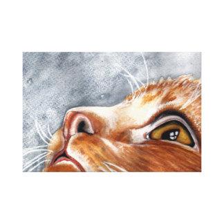 Impressão Em Tela Gato do gengibre do Watercolour