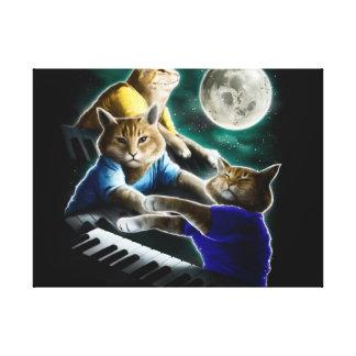 Impressão Em Tela gato do teclado - música do gato - memes do gato