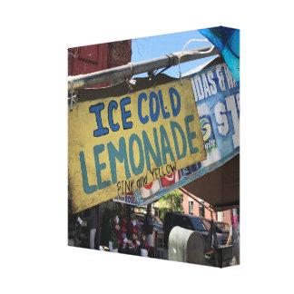 Impressão Em Tela Gelo - limonada fria, lado oeste superior justo