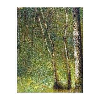 Impressão Em Tela Georges Seurat a floresta em Pontaubert