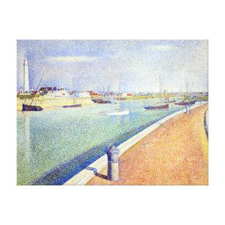 Impressão Em Tela Georges Seurat o canal de Gravelines, pequeno