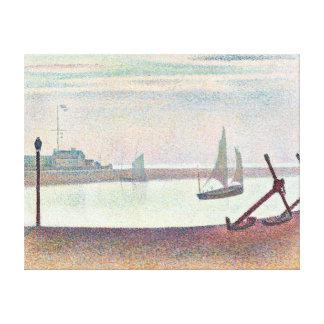 Impressão Em Tela Georges Seurat o canal em Gravelines, nivelando