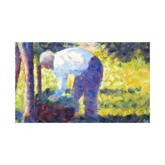 Impressão Em Tela Georges Seurat o jardineiro