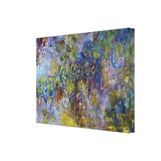 Impressão Em Tela Glicínias por Claude Monet, impressionismo do
