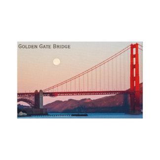 Impressão Em Tela Golden gate bridge em San Francisco