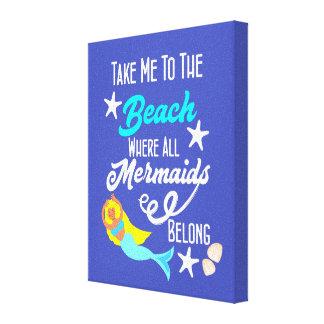 Impressão Em Tela Gráfico temático do slogan da praia bonito da
