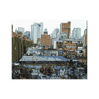 Impressão Em Tela Grafites da Nova Iorque