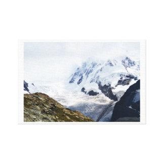 Impressão Em Tela Grande geleira nos cumes suíços