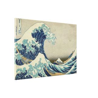 Impressão Em Tela Grande onda de Hokusai fora do vintage GalleryHD