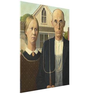 Impressão Em Tela GRANT WOOD - 1930 gótico americano
