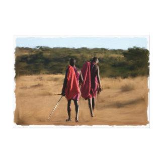 Impressão Em Tela Guerreiros originais de Kenya