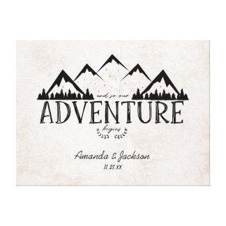 Impressão Em Tela Guestbook alternativo do casamento da aventura da