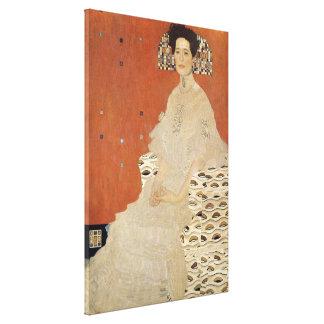 Impressão Em Tela GUSTAVO KLIMT - Retrato de Fritza Riedler 1906