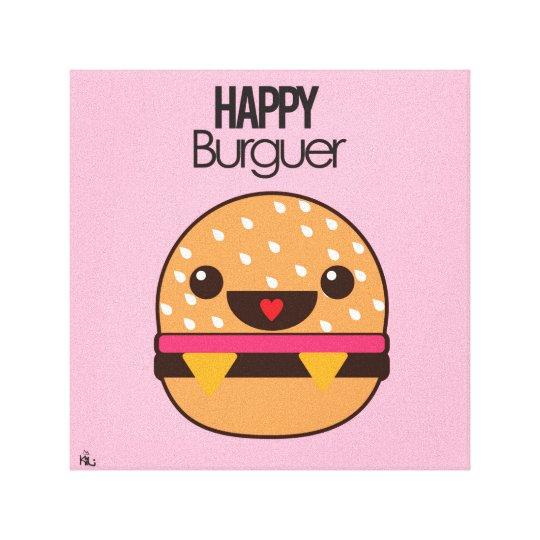 Impressão Em Tela Happy Burguer