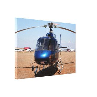 Impressão Em Tela Helicóptero azul